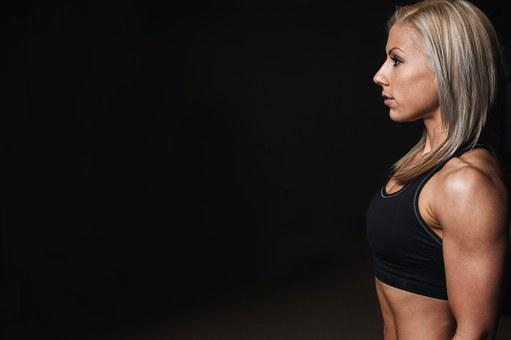 Training, Side Face, Muscles, Blonde, Workout, Fitness