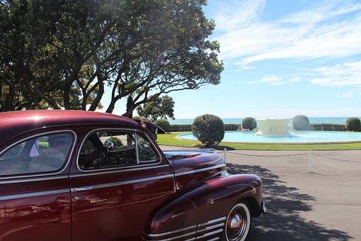Napier, New Zealand, Old Timer, Sky, Blue, Blue Sky
