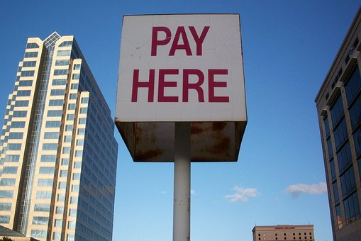 Pay Here, Sign, Texas, Parking, Downtown, Austin, Pay
