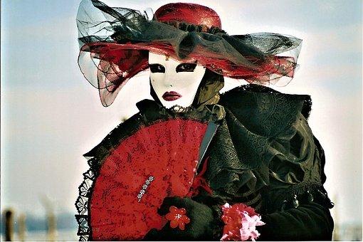 Mask, Red, Lady, Woman, Human, Carnival, Masks, Palace