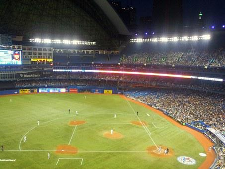 Baseball, Stadium, Dome, Fans, Sports, Rogers Center
