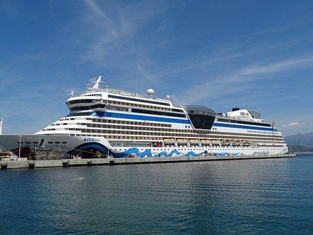Aida, Ship, Cruise, Holiday, Port, Cruise Ship, Water