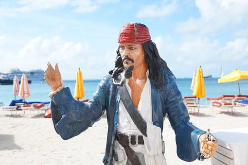 Pirate, Statue, Jack Sparrow, Captain, Character