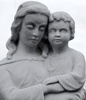 Sculpture, Statue, Fig, Stone, Stone Sculpture, Mother