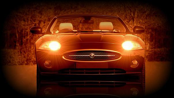 Car, Jaguar, Classic, Red, Transportation, Retro, Style