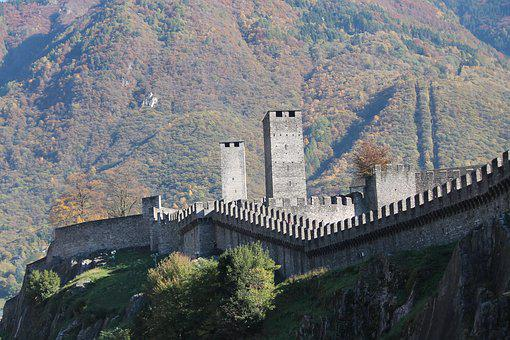 Bellinzona, Castelgrande, Switzerland