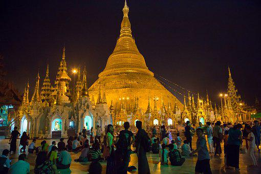 Burma, Yangoun, Temple