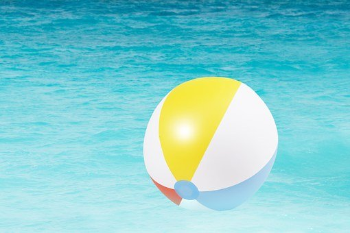 Water Polo, Toys, Bath Ball, Ball, Yellow, Blue, Red