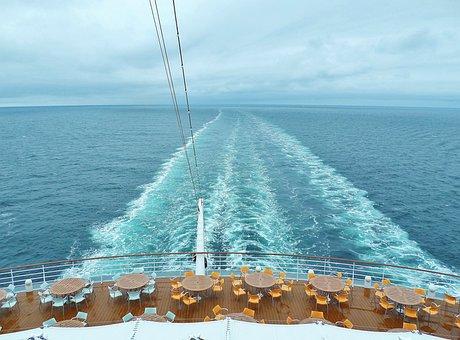 Cruise, Ship, Aida, Wide, Infinity, Sea, Wave, Water
