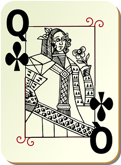 Playing Card, Queen, Clubs, Card Deck, Deck, Casino