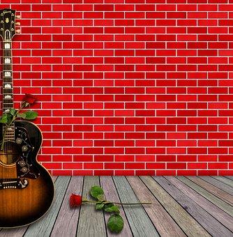 Music, Instrument, Guitar, Inside, Sound, Decorative