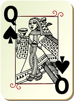 Playing Card, Queen, Spades, Card Deck, Deck, Casino