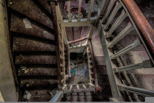 Stairs, Urbex, Architecture, Old