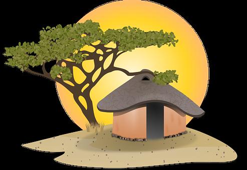 Hut, Cottage, Africa, African, Cabin