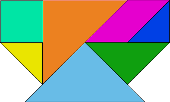 Shapes, Colored, Tangram, Puzzle, Chinese, Pieces