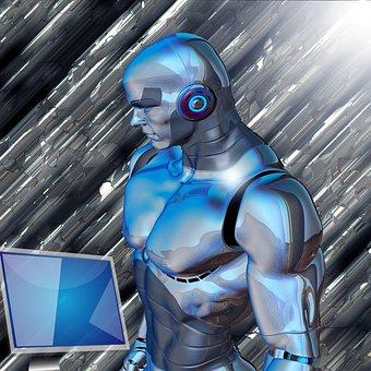 Forward, Robot, Screen, Background, Communication