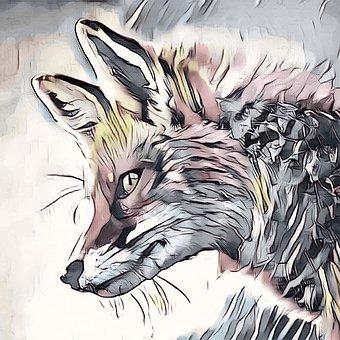 Fox, Sly, Animal, Nature, Fairytale, Design, Mammal