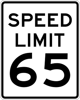Signs, Limit, Speed, Mph, 65