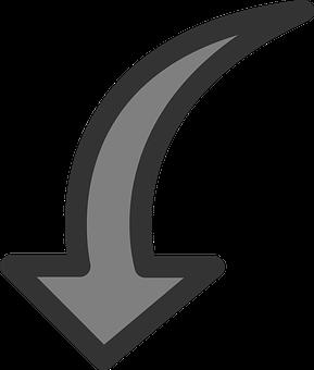 Arrow, Down, Rotate, Counter, Clockwise, Rotation