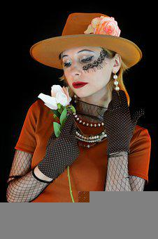 Retro, Woman, Hat, Vintage, Chaplet