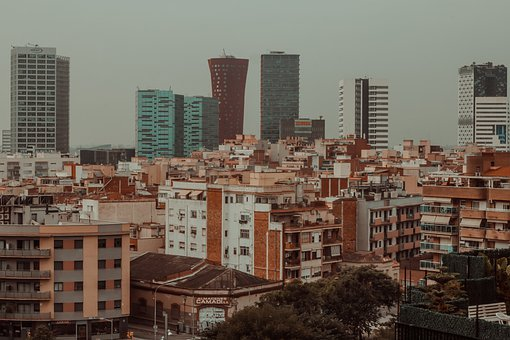 Hospitalet, City, Offices, Architecture, Building, Sky