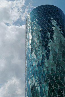Facade, High Rise Office Building, Glass, Building