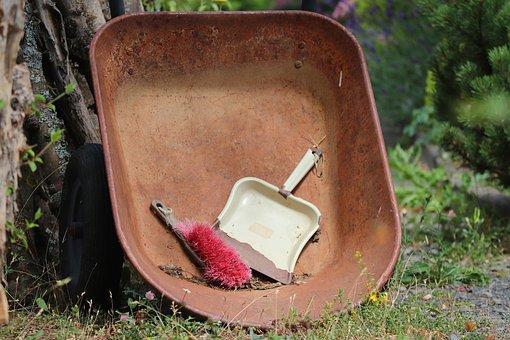 Gardening, Wheelbarrows, Blade, Hand Shovel, Broom