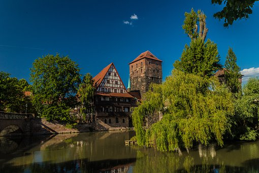 Nuremberg, Castle, Building, Historically, Tower