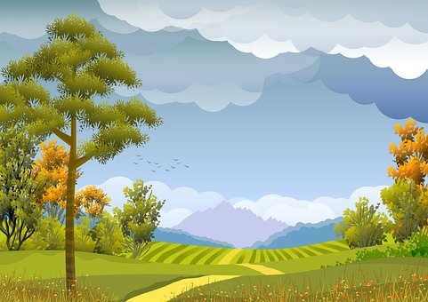 Illustration, Background, Wallpaper, Landscape, Nature