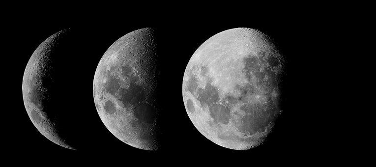 Moon, Phases Of The Moon, Zodiac, Astronomy, Night