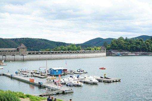 Dam, Edersee, Reservoir, Lake, Eder Dam, Water
