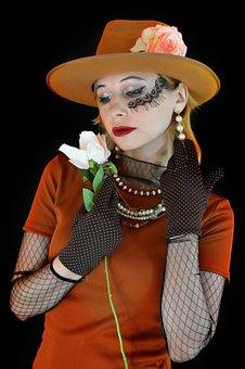 Retro, Woman, Hat, Vintage, Chaplet, Image, Fashion