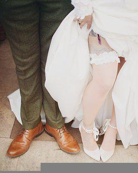 Garter, Wedding, Sexy, Shoes, Bride