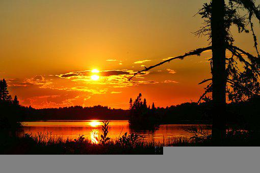 Landscape, Nature, Sunset, Clouds, Trees