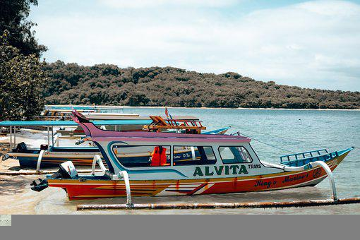 Lombok, Indonesia, Boat, Vacations