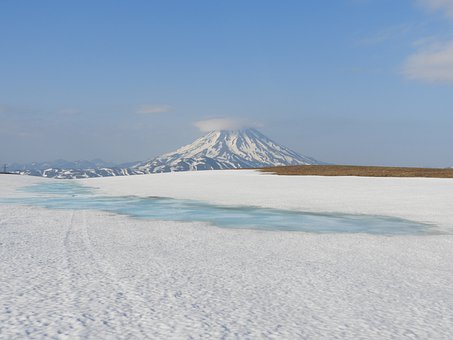 Mountain Plateau, Spring, Summer, Winter, Snow, Melting