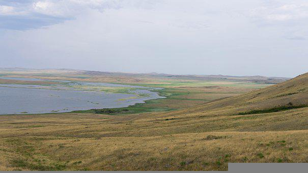 Lake, Nature, Steppe, Water, Landscape