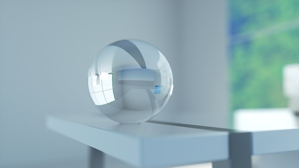 Glass Orb, 3d, Render, Orb, Glass, Sphere, Decoration