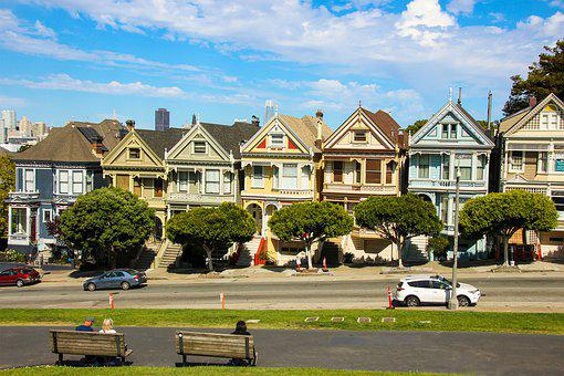 Painted Ladies, San Francisco, Usa, Neighborhood