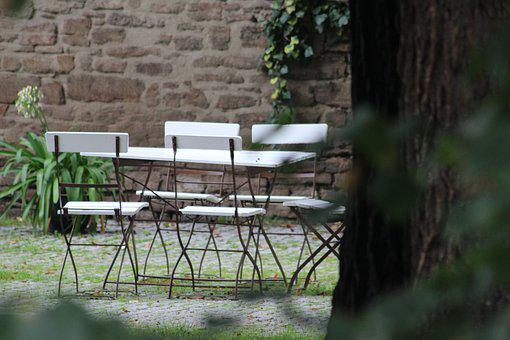 Park, Garden, Chairs, Table, Rest, Take A Breather