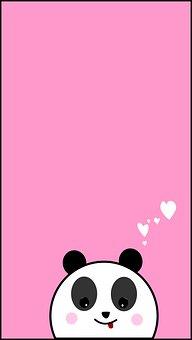 Wallpaper, Pink, Panda, Background, Cute, Animal