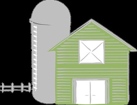 Farm, Green, Barn, Agriculture
