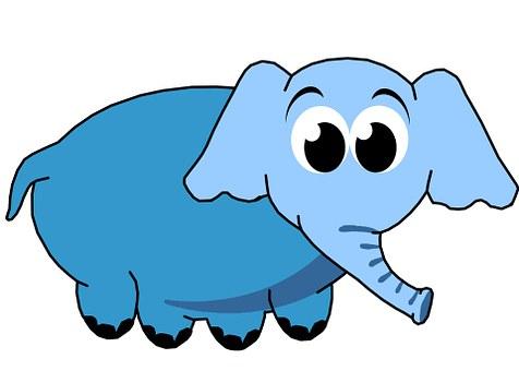 Blue, Elephant, Cute, Children, Clip, Art, Decoration