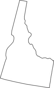 Idaho, State, Map, Geography, Usa, United States, Us