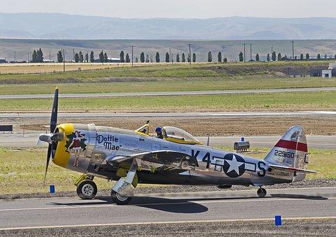 P-47, Ww2, Warbird, Aircraft, Airplane