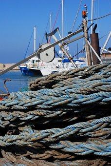 Boat, Sea, Rope, Ship