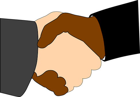 Handshake, Black, White, Together