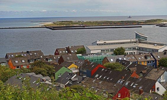 Helgoland, Village, North Sea, Island, Lower Saxony