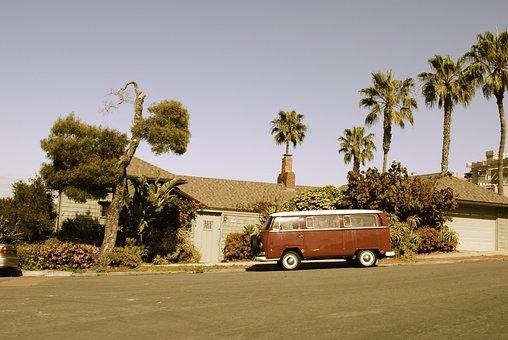 Automobile, Van, Bus, Camper, Vehicle, Hippie, Travel