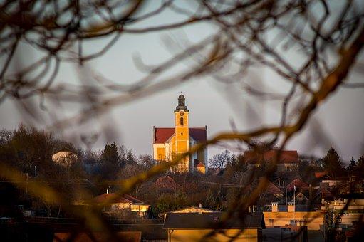 Church, Old, Threes, Landscape, Religion, Architecture